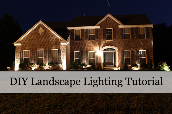 Our home from scratch landscape lighting diy aloadofball Image collections