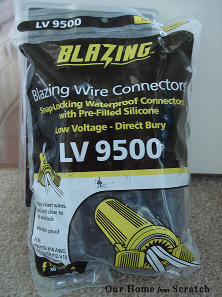 landscape lighting wire nuts