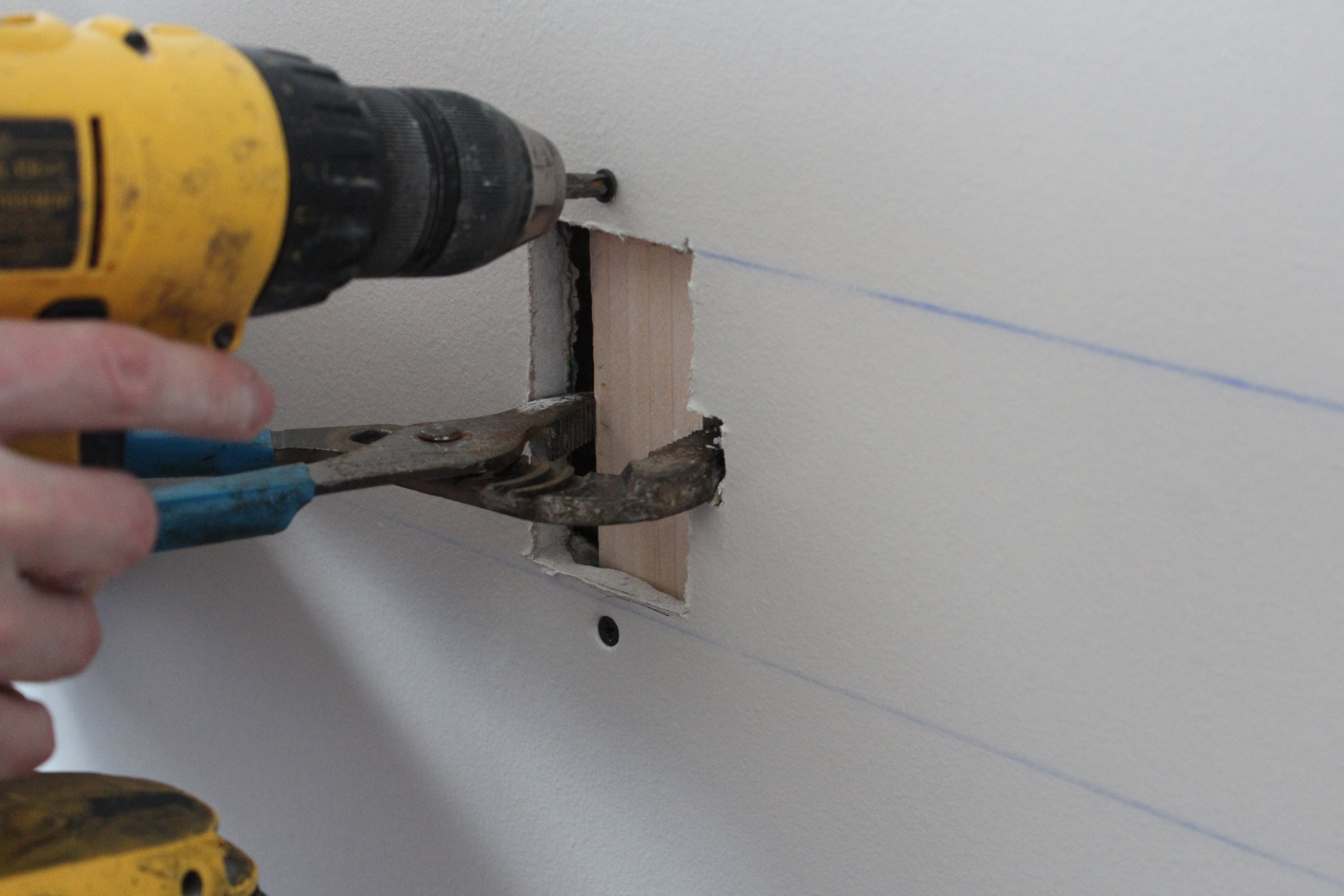 How to repair large hole in drywall - One The Drywall Plug Is In I Add The Mesh Tape You Could Also Use Paper But The Procedure Would Be Slightly Different Plus I Think The Mesh Works