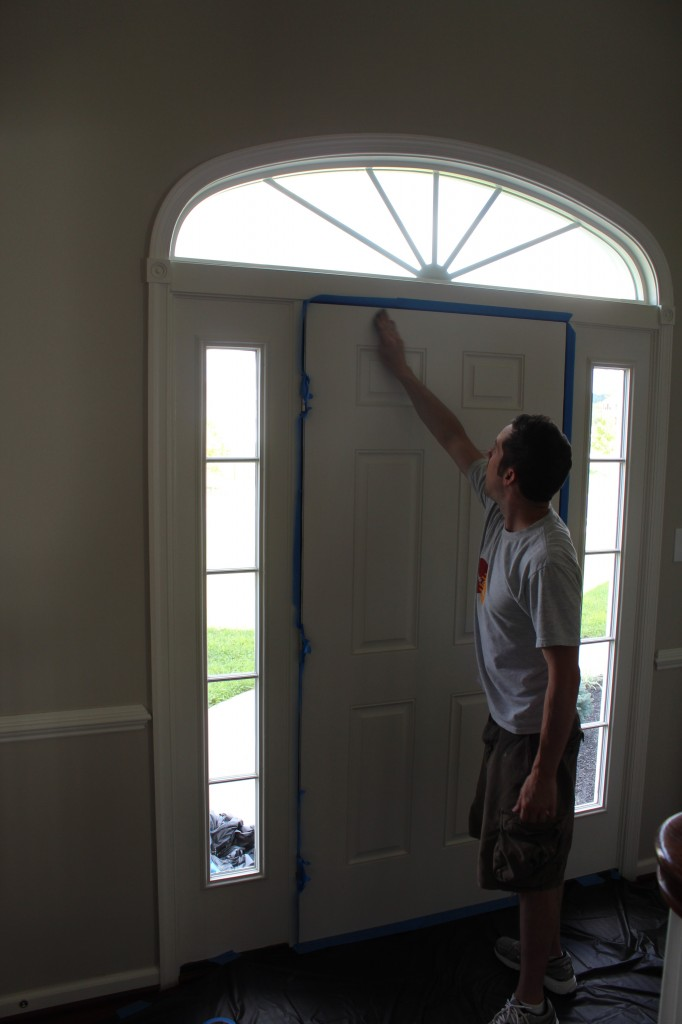 Our Home from Scratch How To Paint Exterior Door on best exterior paint door, flat door, plain door, painting a purple door, spray paint exterior door, duron exterior paint blue door,