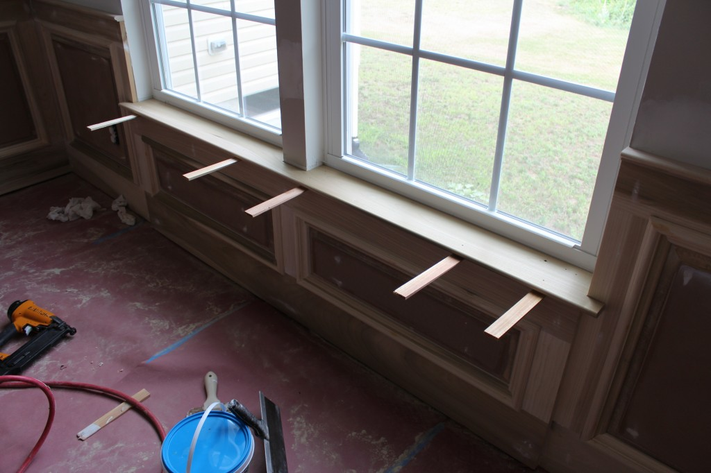 Our home from scratch for How to paint wood windows interior
