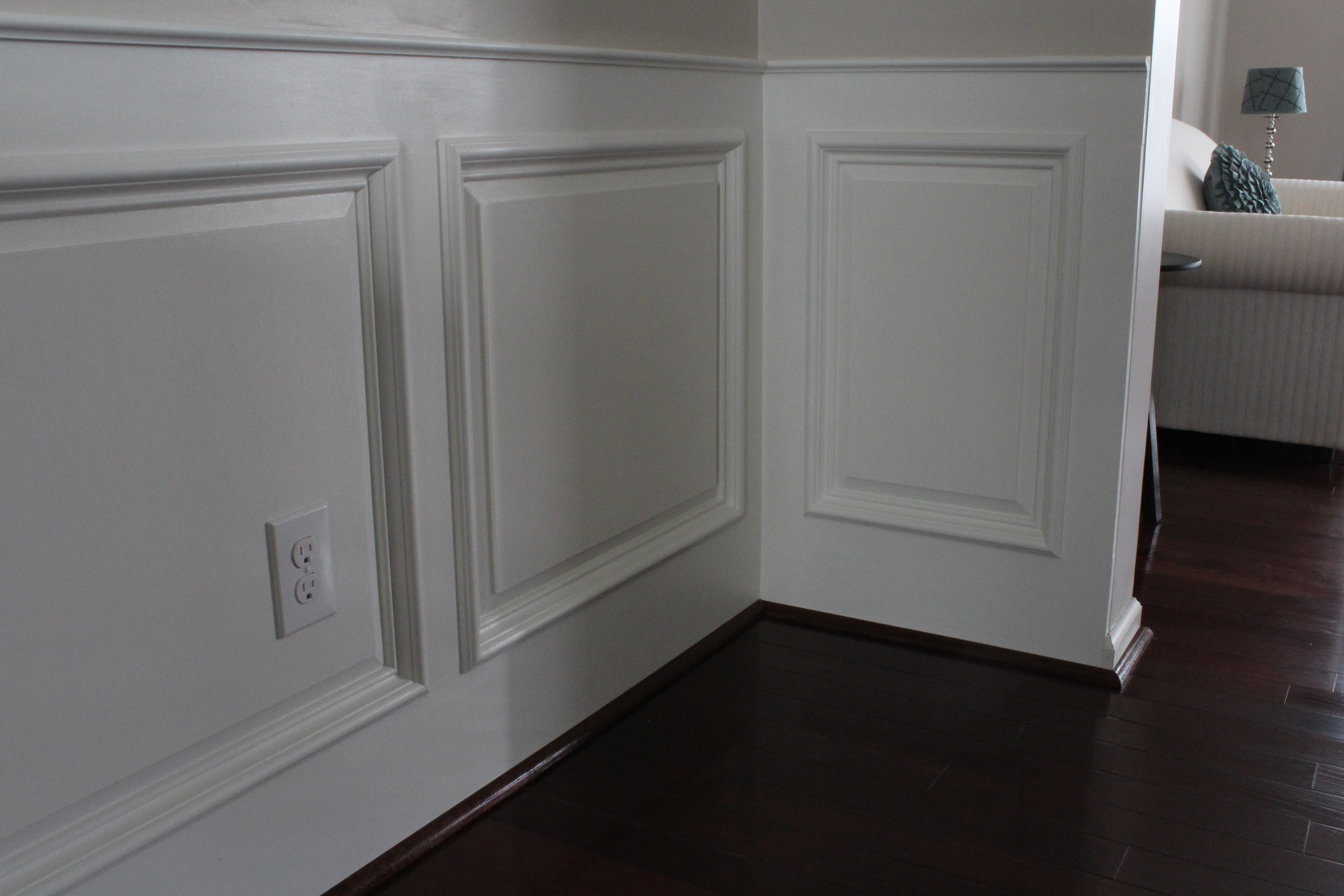 Raised Panel Siding : Wainscoting doorway door molding wainscot i like much