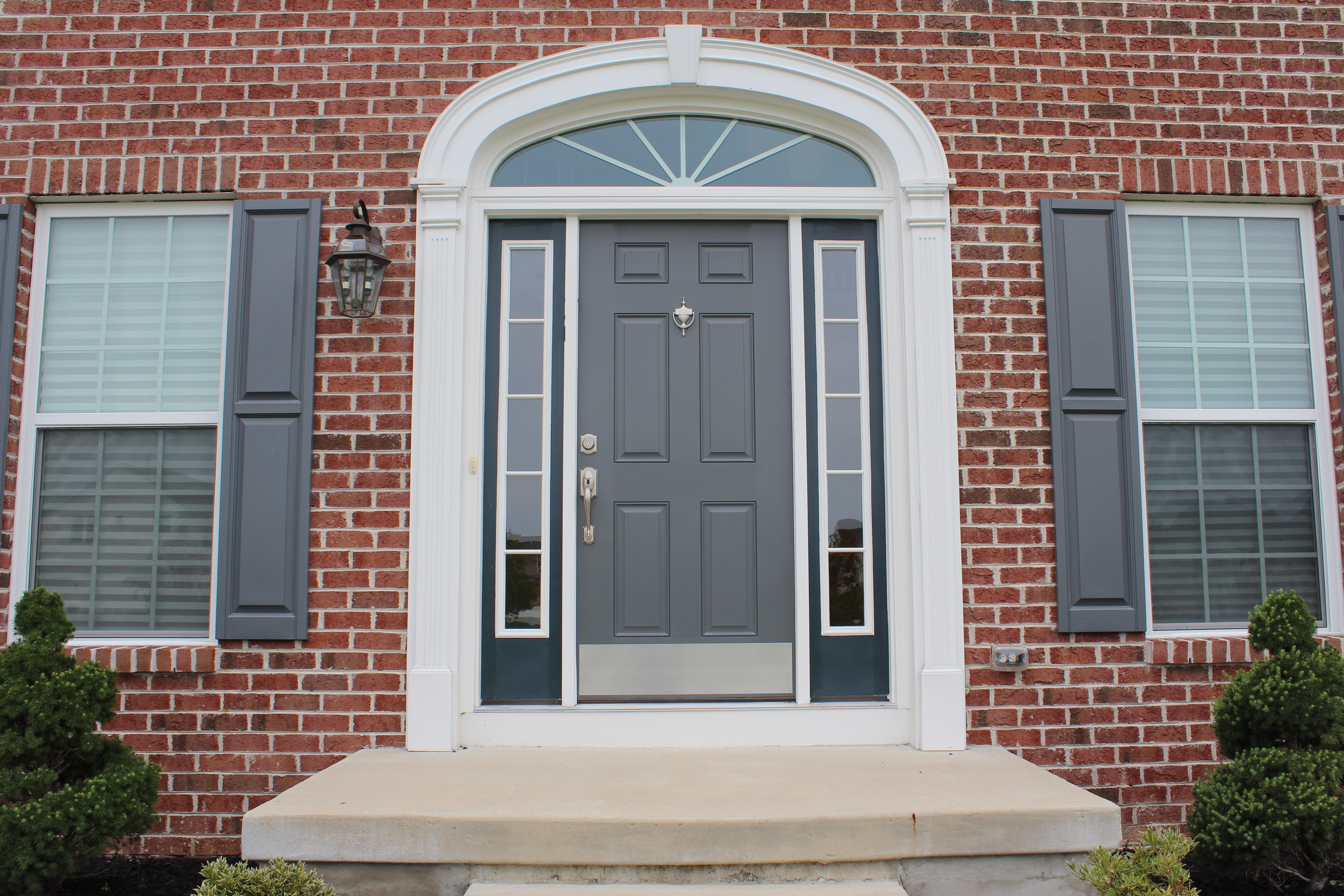 3456 #79433A Front Door Finished 1 picture/photo Painted Front Doors With Sidelights 41895184