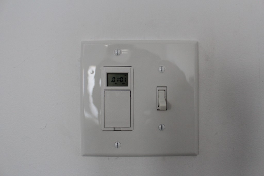 installed light timer switch 1024x682 - Christmas Light Timers