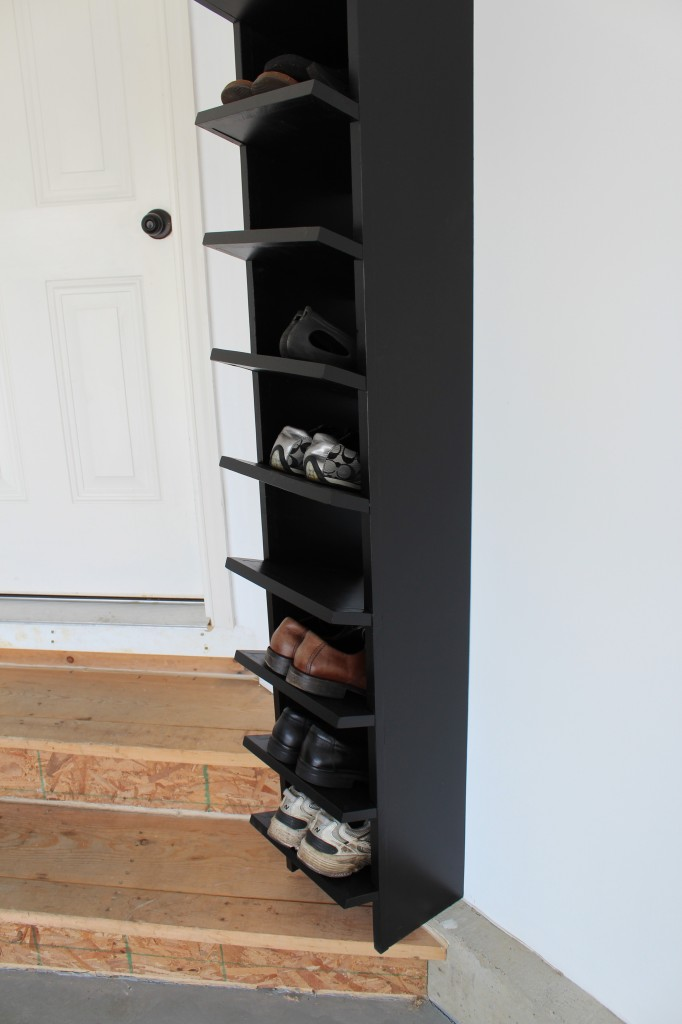 close up of shoe rack