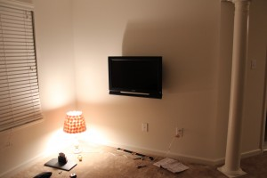 flatscreen mounted
