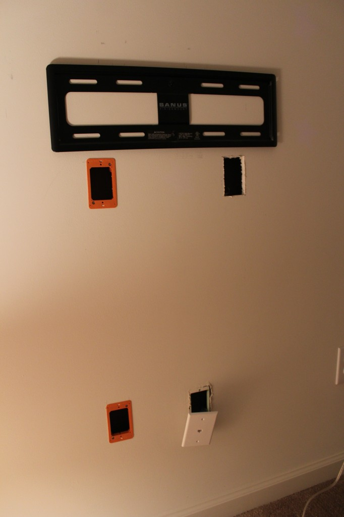 hiding flat screen tv cables by our home from scratch bob vila nation. Black Bedroom Furniture Sets. Home Design Ideas