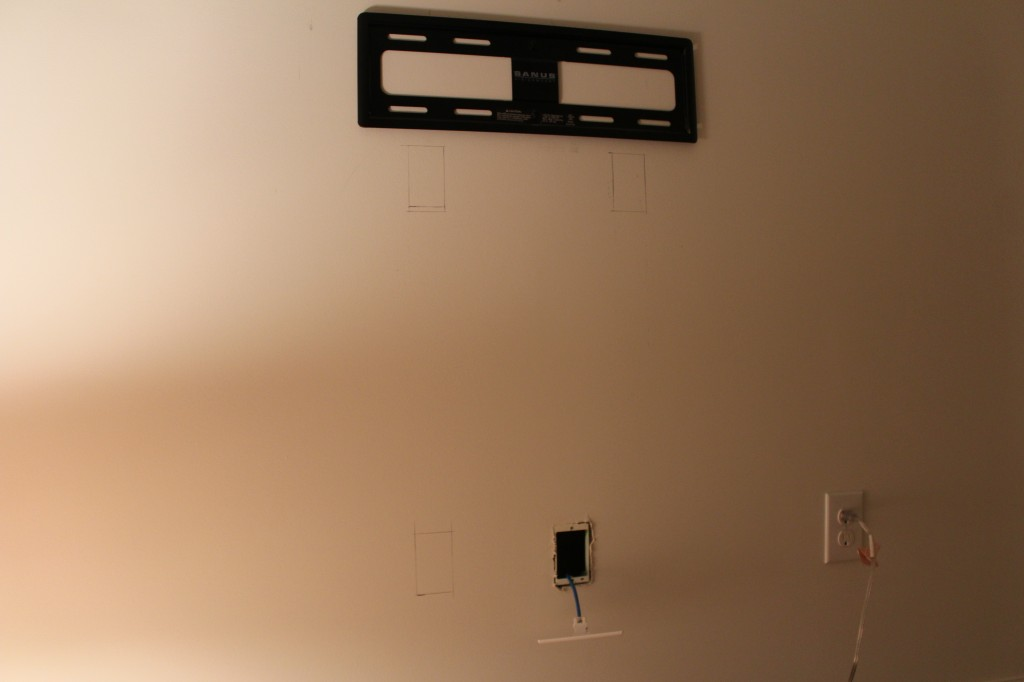 Hiding Flat Screen Tv Cables By Our Home From Scratch