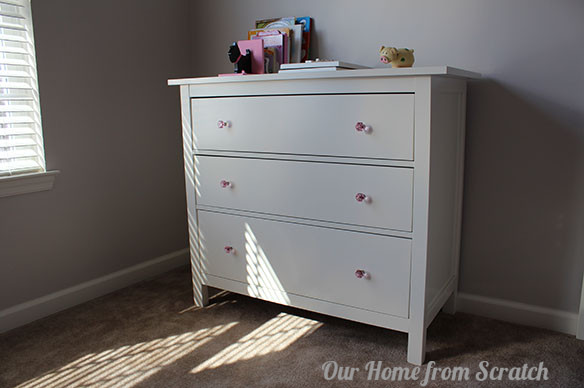 hemnes pink drawer pulls