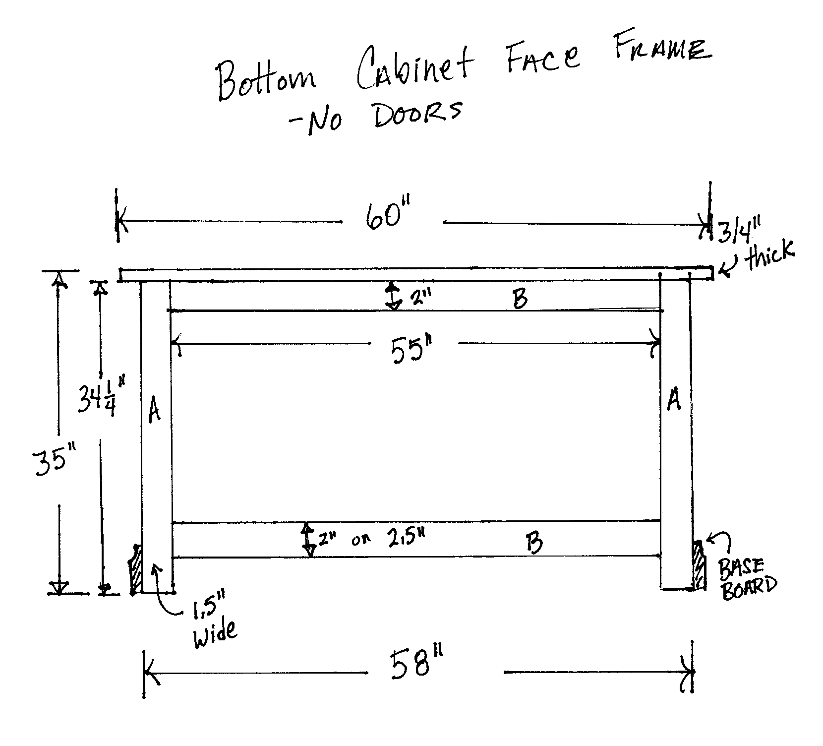 Bottom Face Frame