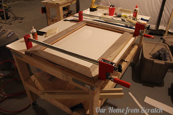 clamping wood picture frame