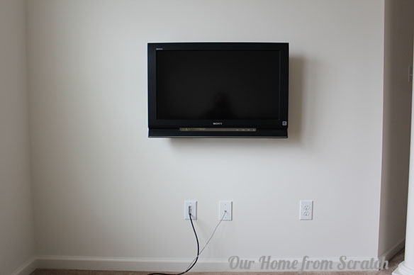 flat screen tv hiding power