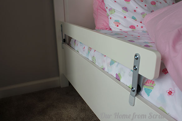 bed rails we added these vikare bed rails from~ Ikea Toddler Bed Guard Rail