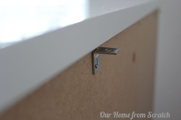 metal bracket on hemnes