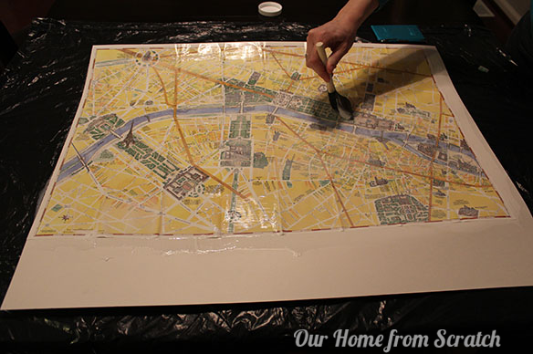 mod podge paris map