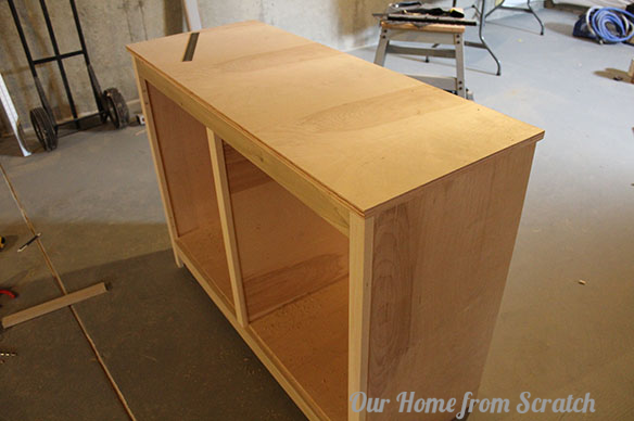 Our home from scratch for Building kitchen cabinets with pocket screws