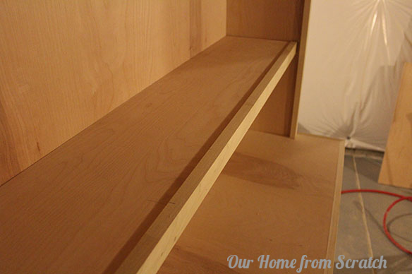 shelf with front