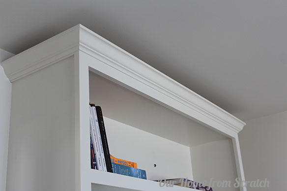 crown molding on built-in
