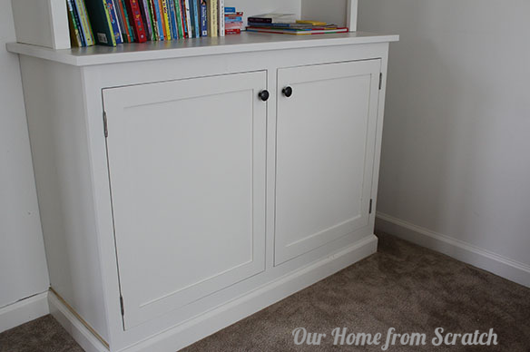hemnes drawer pulls on custom cabinet