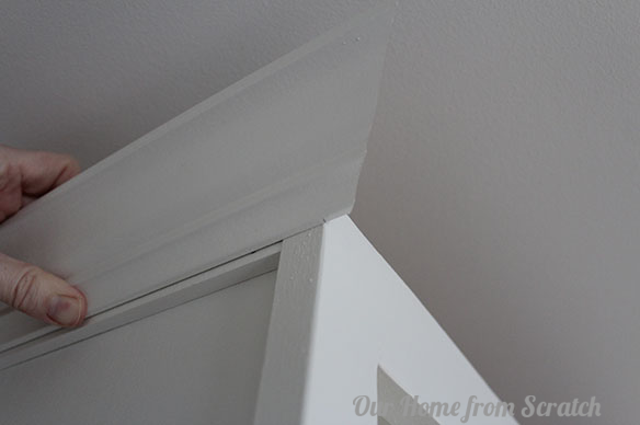 crown molding on cabinet 2