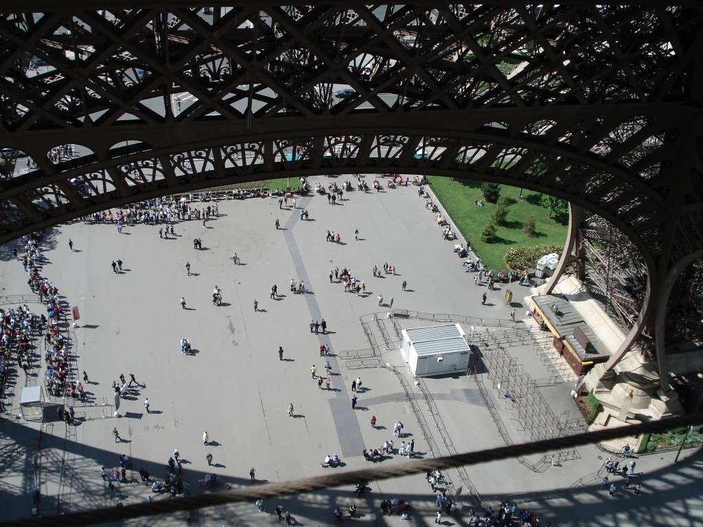 view from eiffel tower