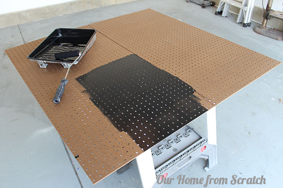 painting pegboard