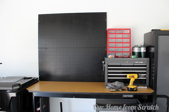 pegboard installed