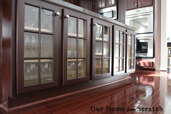 Our home from scratch for Glass kitchen cabinet doors