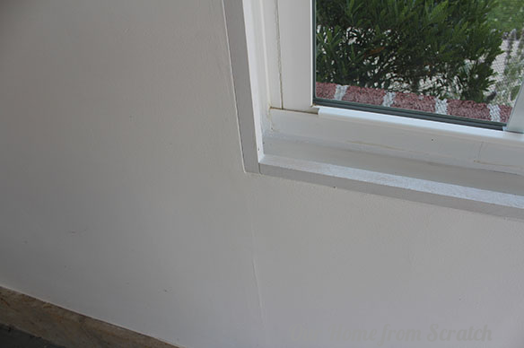 window trim close up