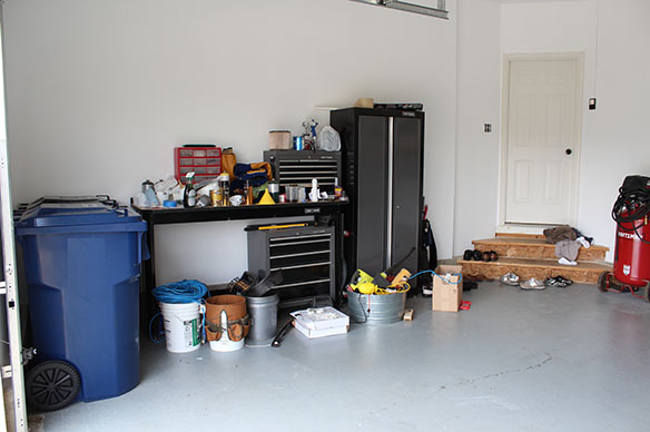 garage unorganized