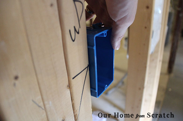 outlet box on framing