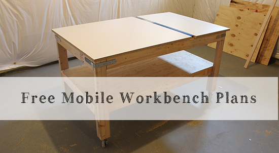 Diy mobile work table plans plans free for Table design on mobile
