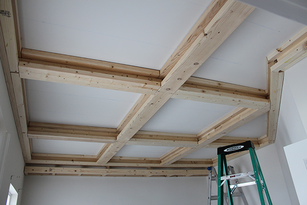Vaulted Ceiling Before And After