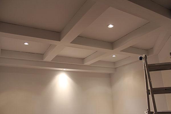 coffered ceiling lights