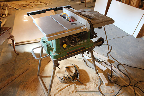 hitachi table saw & Our Home from Scratch
