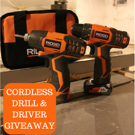 Cordless Drill & Driver Giveaway facebook