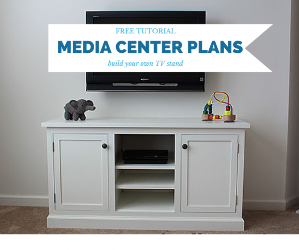 diy media center plans woodworking plans free