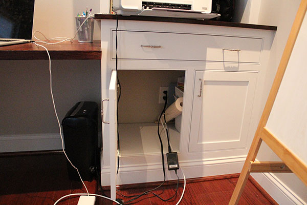 office cable management. I Wanted To Make Sure They Were Inside The Cabinet And Not Under Desk. If Desk, Then I\u0027d Have Cables More Visible Office Cable Management