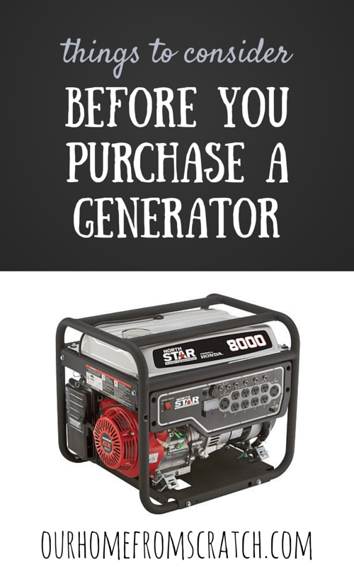 purchase a generator