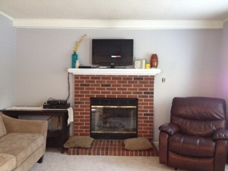 fireplace built-ins before