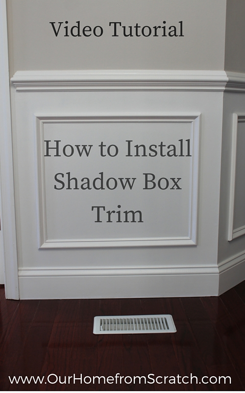 shadow box trim pinterest