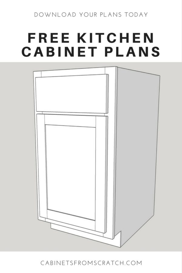 kitchen cabinet plans. Free Kitchen Cabinet Plans
