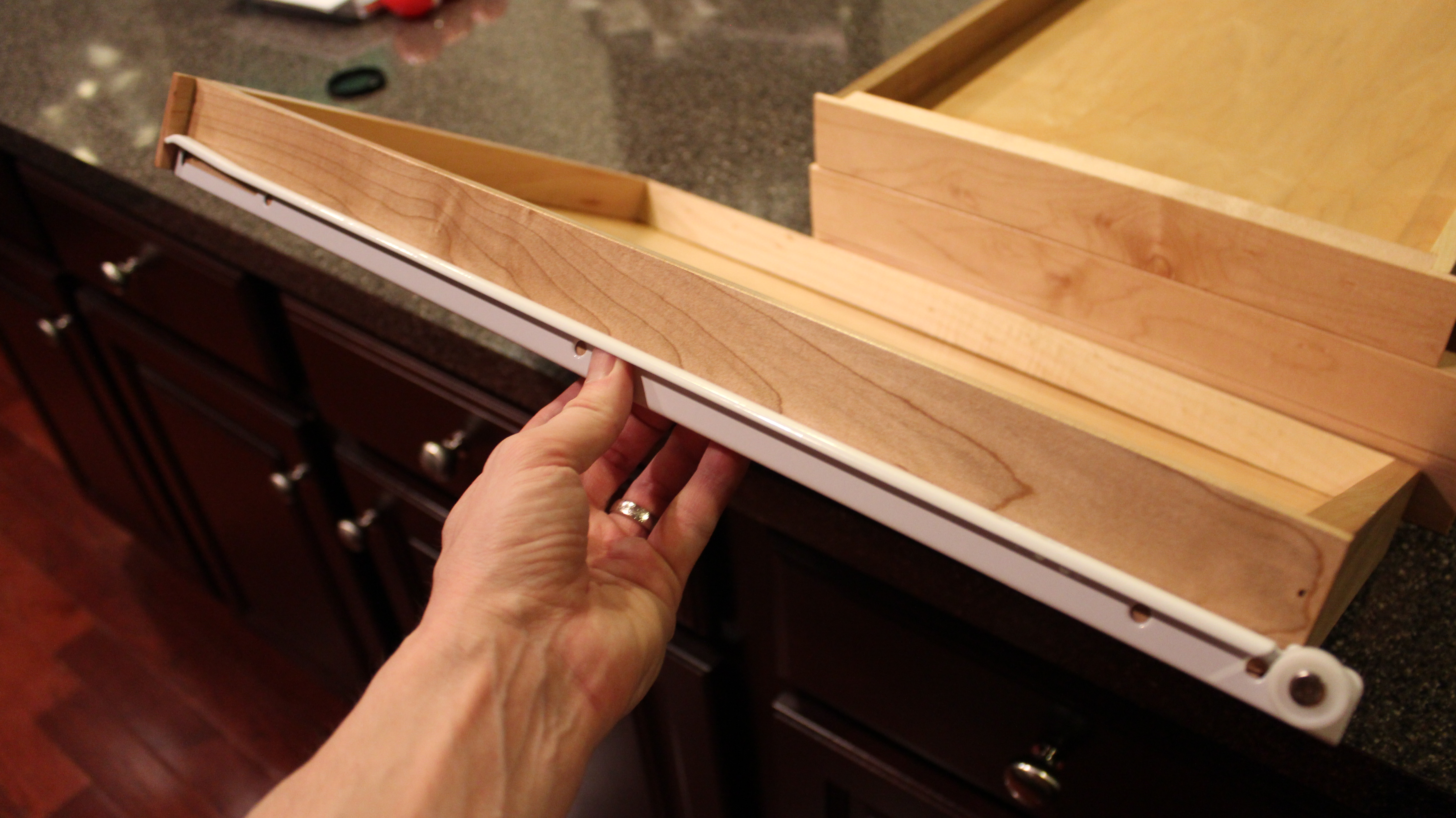 kitchen cabinet drawer slides our home from scratch 5388