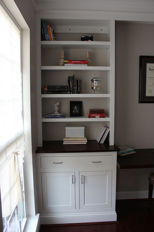 our home from scratch Home Office Built Ins